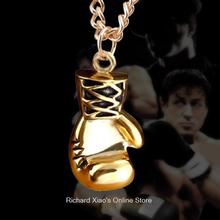 Gold Silver Fashion Lovely Mini Boxing Glove Necklace Boxing match Jewelry Stainless Steel Cool Pendant for