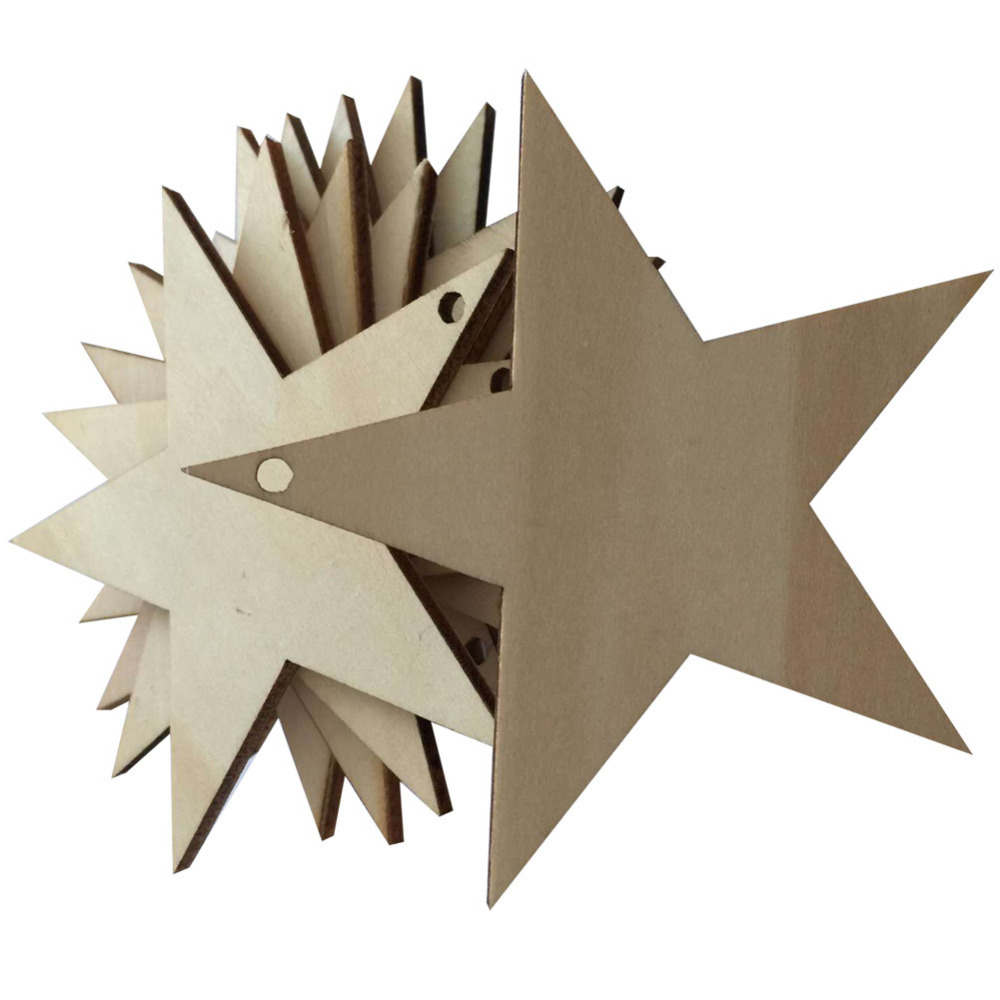 25pcs/Lot DIY Laser Cutting Star Shape Punched Cards Folk Arts Crafts Blank Plaque Creative Crafts Home Decorations Supplies(China (Mainland))