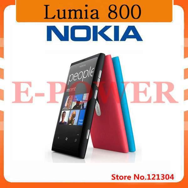 "Lumia 800 Unlocked Original Nokia Lumia 800 mobile phone windows 7.5 16gb storage 3G GPS WIFI 3.7"" touchscreen 8MP freeship(China (Mainland))"