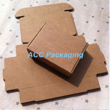 Small 4*4*2cm Brown Gift Packaging Kraft Paper Box For Jewelry Wedding Candy Chocolate Bakery Baking Cake Handmade Soap Packing(China (Mainland))