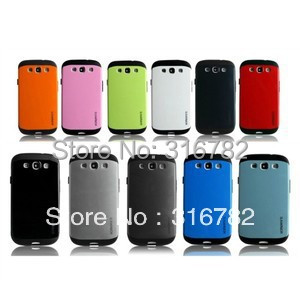 Latest Style Slim ARMOR Back Case Cover for Samsung Galaxy S3 S III i9300 Case Cover(China (Mainland))