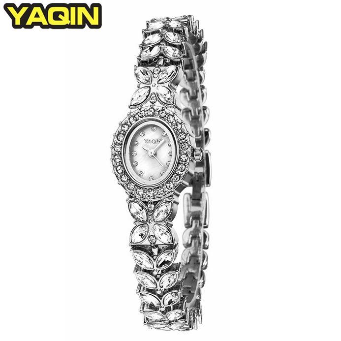 Casual Lady Women Diamond Bracelet Bangle Jewelry Watch Dress Quartz Watches WristWatch+Gift Box Free Ship(China (Mainland))