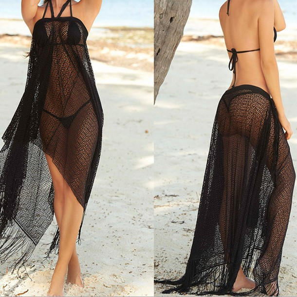 Sexy bathing suit cover up 2015 for women bikini wrap beach wear dress long sling beachwear skirt Women beach cover up dresses(China (Mainland))