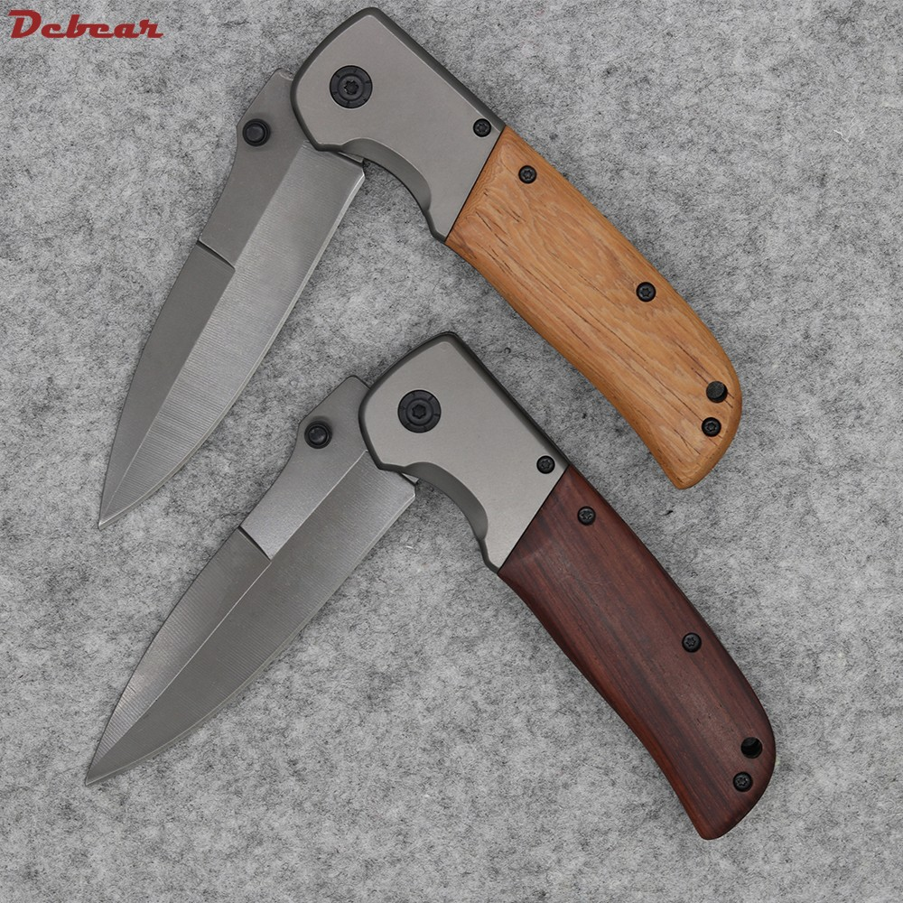 Buy Dcbear New Tactical Folding Knife With 3CR13MOV Blade Titanium Surface Camping Pocket Tools G080# cheap