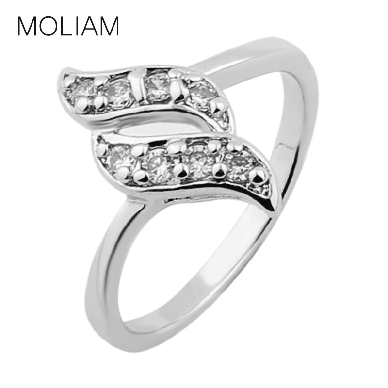 Engagement Ring For Women Austrian Crystal Cubic Zirconia Wedding Band