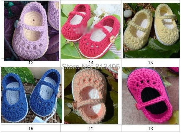 Wholesale - Crochet baby football shoes infant tennis booties cotton yarn 0-12M custom free shipping(China (Mainland))