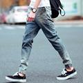 Mens Harem Jeans New 2016 Slim Skinny Denim Biker Pant Boyfriend Hiphop Trousers Bule Color Fashion