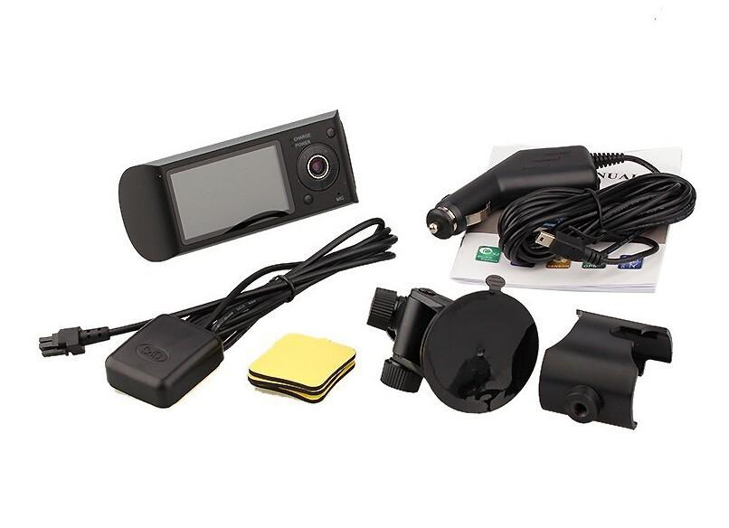 2.7inch Dual Lens Car DVR X3000 R300 Dual with GPS G-Sensor Camcorder 140 Degree Wide Angle Car DVR Camera Recorder