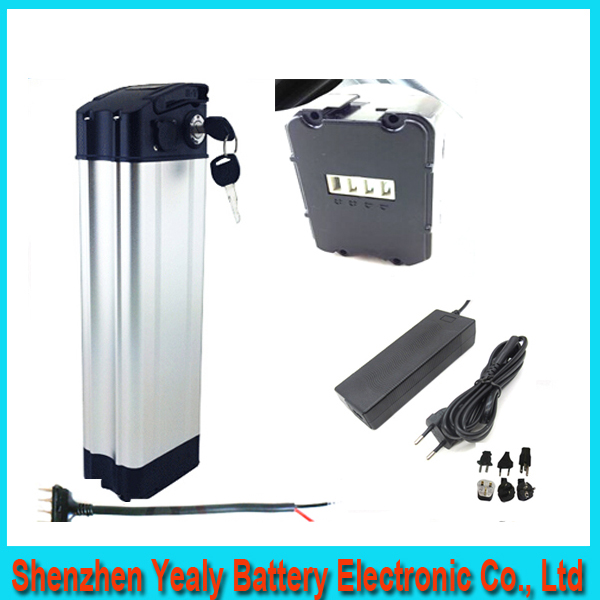 Excellent 36V 10AH bottom discharge electric bike lithium battery 36V 500w bike battery Aluminum housing case BMS and Charger(China (Mainland))
