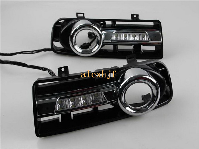 LED Daytime Running Lights DRL with fog lamp cover, LED fog lamp case for Volkswagen Golf 4th 1997~2004, 1:1 replacement<br><br>Aliexpress