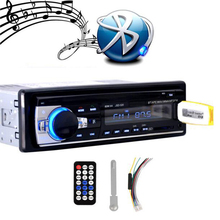 2016 New 12V Car Radio Stereo Player Bluetooth Phone AUX-IN MP3 FM/USB/1 Din/remote control For Iphone Car Audio Free shipping (China (Mainland))