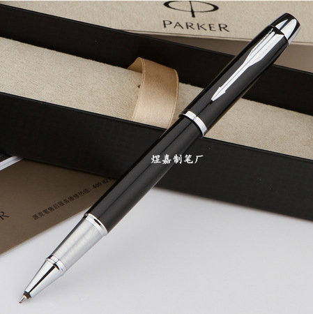Parker Rollerball pen IM gold All Matel Medium nib 0.5mm Gift pens Office executive Business school pen black with silver cilp(China (Mainland))