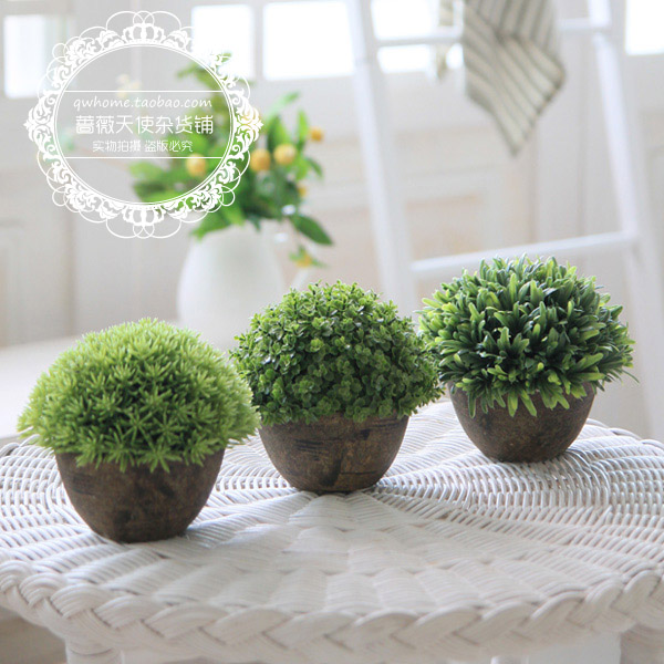 Free shipping for za kka vintage artificial plants home for Artificial plants for decoration