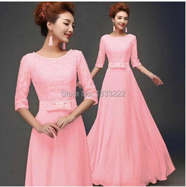 Kf487 big discount elegant women dress evening party dress half sleeve
