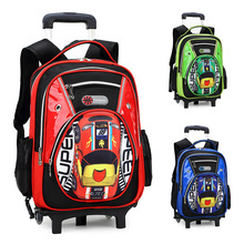 Hot Sale Waterproof Durable 3 wheels Palou Trolley School Bags Draw-Bar Box Suitcase Backpack Mochila  Kids Teenagers Boys Girls(China (Mainland))