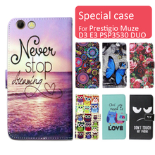 Buy Fashion cartoon printed flip wallet leather case Prestigio Muze D3 E3 PSP3530 D Card Slot phone bag book case,free gift for $4.26 in AliExpress store