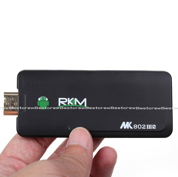 Rikomagic MK802 IIIS Android 4.1.1 TV Box Bluetooth Mobile Dual Control Remoto Base RK3066 Cortex A9 1 GB /8 G HDMI Wifi Mini PC(China (Mainland))