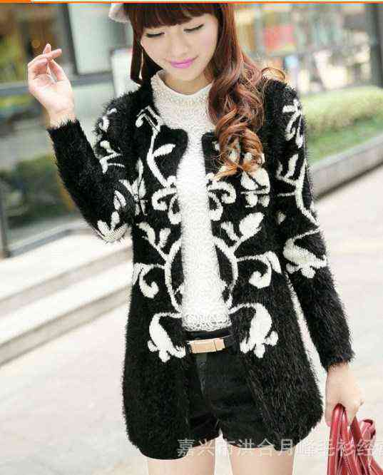 Treasures of the town factory 14 hot new womens clothing chain link 802 sweater Cardigan coat 2014112714120(China (Mainland))