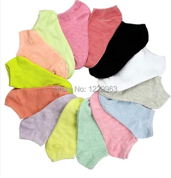 Candy color female leisure MoChuan sox lovely thin socks 10045(China (Mainland))