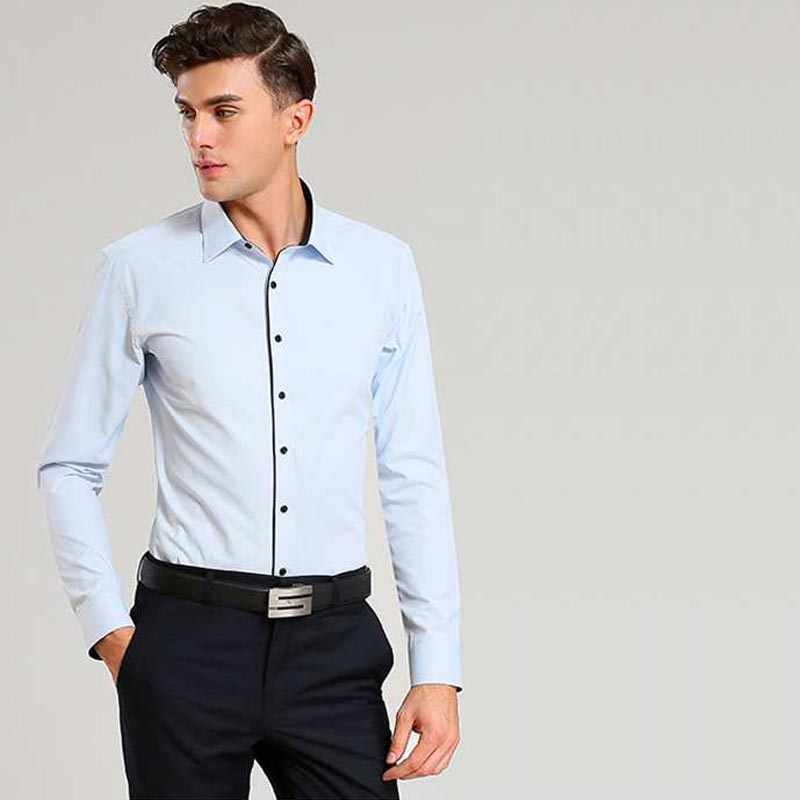 Top quality men dress shirt bussiness slim fit new arrival for Best fitting men s dress shirts