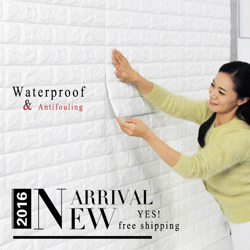 Tự dính hình nền Không Thấm Nước DIY Tường Trang Trí Nội Thất wallpaper Mới Nhất PE Foam brick tường Stickers kids 3d wallpaper kids(China (Mainland))