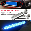 car daytime running lights grille driving lamps use the wind to give the power the more
