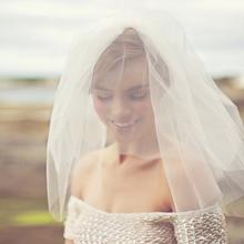 Hot Sale White/Ivory Bridal Veils Tulle Wedding Veils Wedding Accessories Veils Short voiles robe de mariage BV02(China (Mainland))