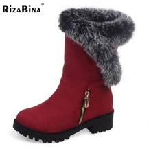 Buy RizaBina New Fashion Woman Warm Snow Boots Women Flats Round Toe Boot Botas Femininas Winter Girls Shoes Footwear Size 30-52 for $28.41 in AliExpress store