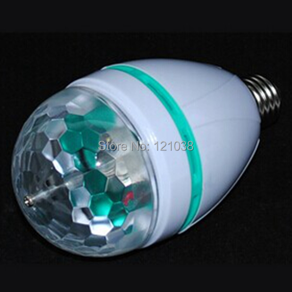RGB Full Color B22 LED Bulb Crystal Auto Rotating Stage Effect 3W Disco light lamp - HongKong Guide Lighting Limited store