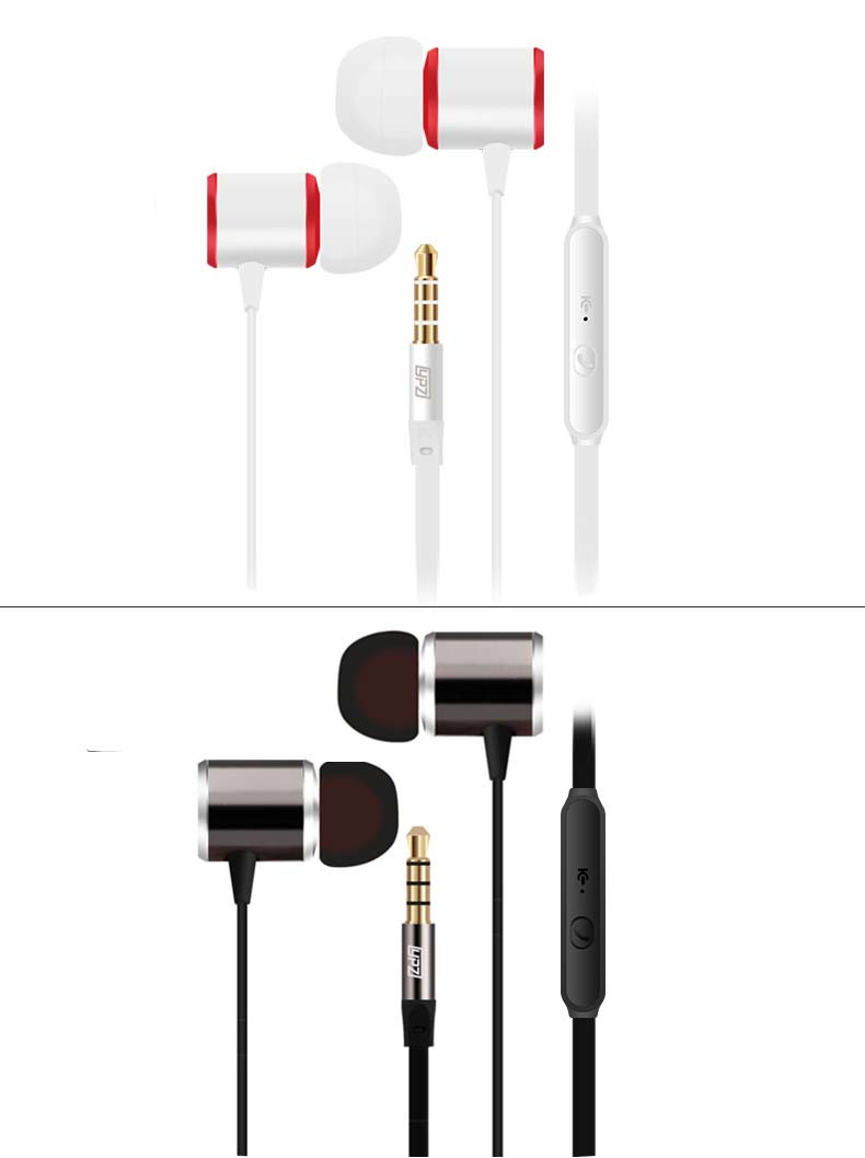 Hot Sale high quality Earphone 3.5mm Metal headset In-Ear Earbuds For Cellphone MP3 MP4 Earphones With Microphone