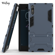 Buy Sony Xperia XZ Case Shockproof Robot Armor Case Slim Hybrid Silicone Rubber Hard Back Phone Cover Sony XZ Coque Funda # for $2.98 in AliExpress store