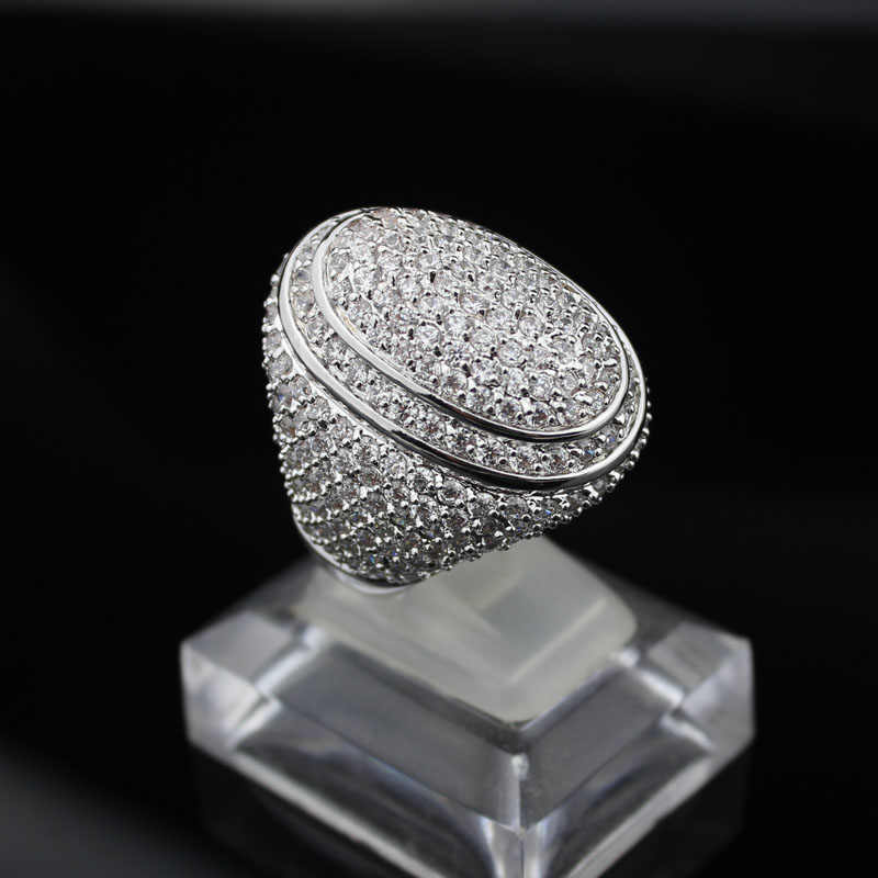 Newest AAA class white Crystal elegant wedding Rings plated Platinum luxury cubic Zirconia prong setting ball shape rings(China (Mainland))