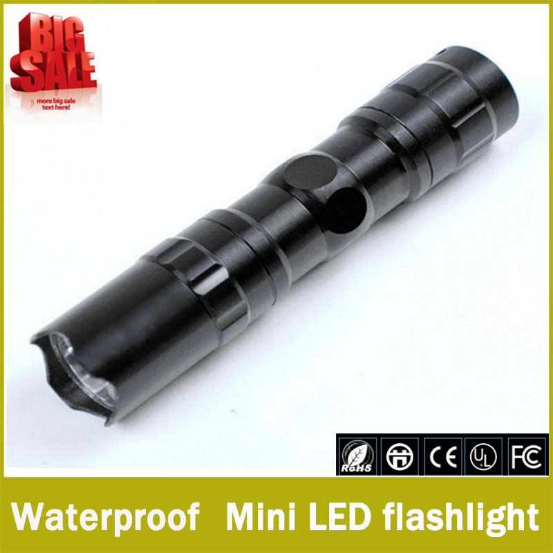 Promotion 90 off The best quality mini LED Flashlight Strong Lanterna Torch light Waterproof lantern penlight