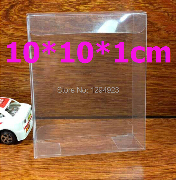 Clear plastic PVC box for candy packing, plastic gift box packaging size gift box packaging size 10*10*1cm(China (Mainland))