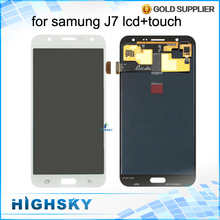 Для Samsung для Galaxy J7 J700F J700M J700H ЖК-дисплей экран с сенсорным дигитайзер ассамблеи J71 J710 части 1 шт бесплатно доставка(China (Mainland))