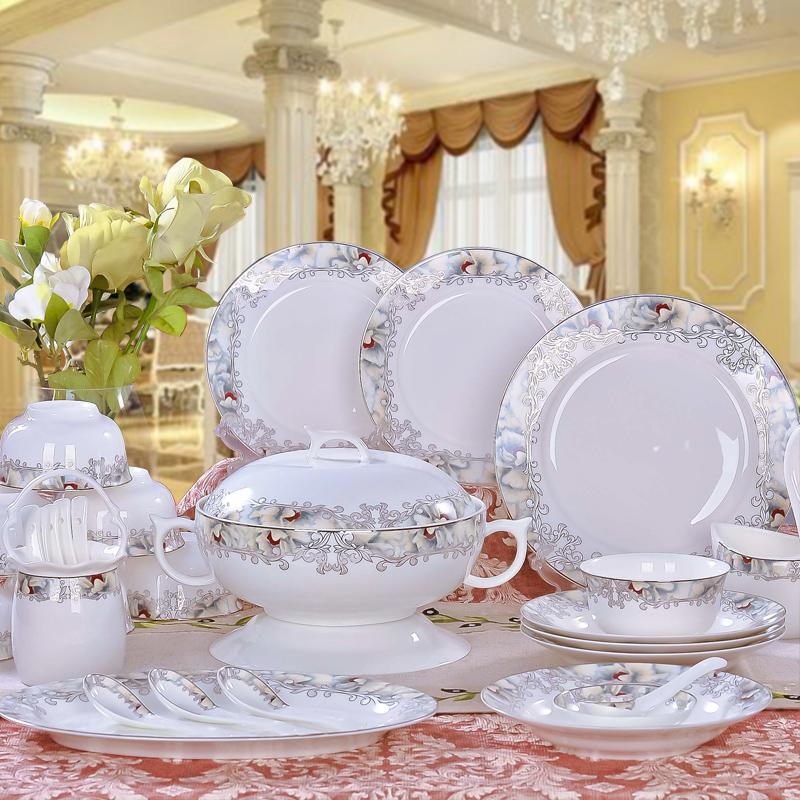 Bowl set ceramics tableware avowedly 56 bone china dinnerware bowl set disc(China (Mainland))