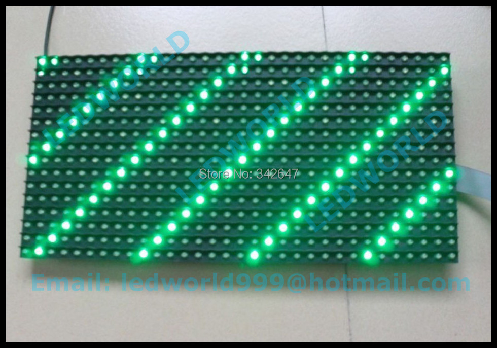 factory price high brightness semi-outdoor 32*16 green color p10 led display panel(China (Mainland))