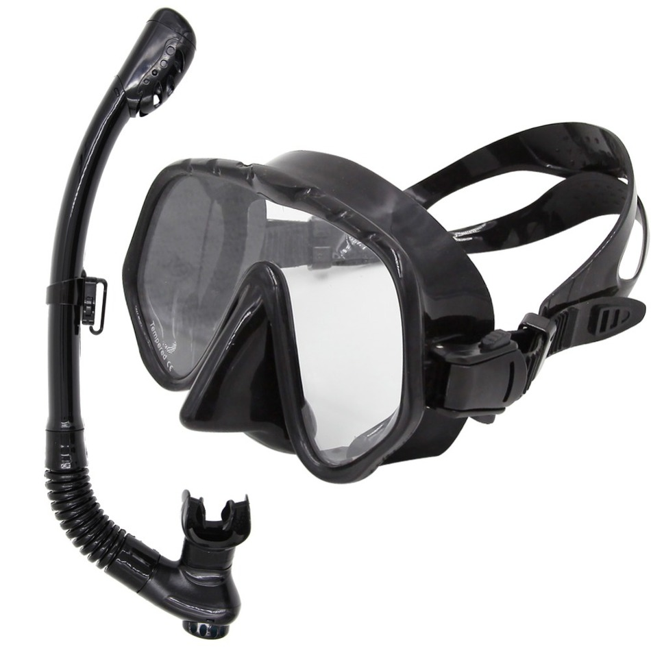 brand Professional diving scuba gear swimming mask and snorkel hot sale diving mask goggles and snorkel set(China (Mainland))