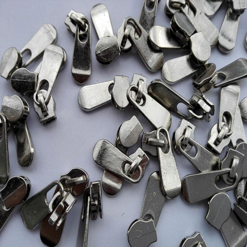 3# Silver Color Metal Zipper Pull Sliders For Repair Nylon Zipper 100Pcs/lot 3-005(China (Mainland))