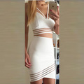 eSale Women's Fashion Lace Crochet Hollow Out Half Sleeve Casual Party Prom Celebrity Short Evening Lace Dress PL4400