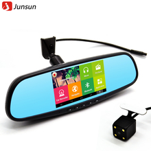 Junsun 5 inch Special Car DVR GPS Android Rearview mirror Bluetooth Monitor 1080P Dual Lens Camera Video For Anti glare mirror(China (Mainland))