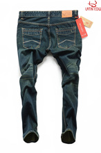 New arrival newest sub- gray-green water washed jeans man jeans loose jeans for men in robin jeans