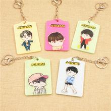 Youpop Kpop BTS Album V Suga Jungkook Jimin Jhope J-hope Jin K-POP Case Bus Card Id Card Sets Entrance Guard Card Sets Hang Rope(China (Mainland))