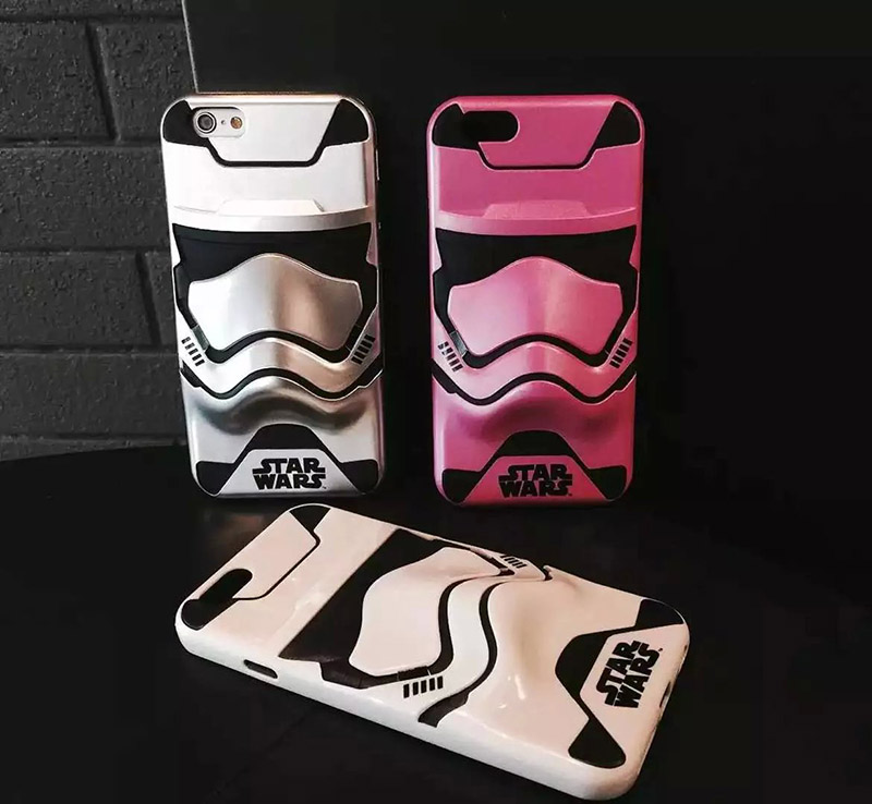 STAR WARS 3D Armor Phone Case For iPhone 6 6s & 6plus 6 plus 6s plus Protective Back Cover Hard coque Cartoon Pink TPU+Silicon(China (Mainland))