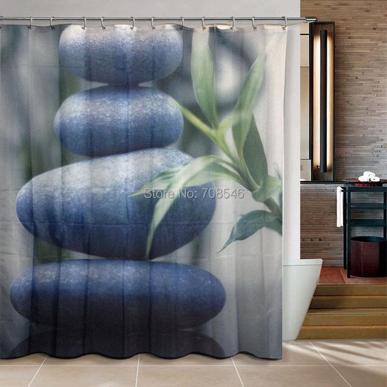 Four Stone Zen bathroom products Shower Curtain 180x200cm bath curtain ...