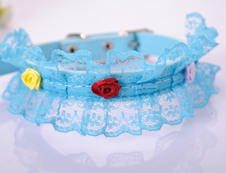 Pet collar Lace collar accessories cat dog laps Small dogs cat collars tie(China (Mainland))