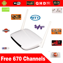 5pcs 6 months QHDTV Arabic IPTV Box 670 Plus Arabic Channels No monthly pay with Q9 Android 4.4 Free shipping
