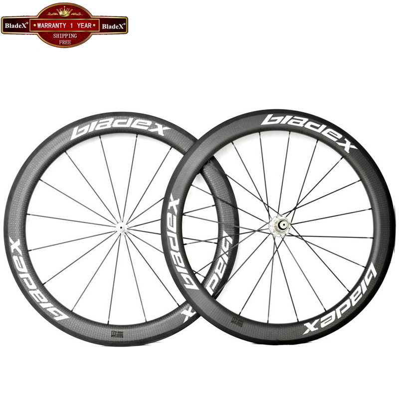 BladeX Carbon Wheels 58mm Tubular Width 23/25mm 700C Road Bike Carbon Wheelset 58mm Carbon Tubular Wheelset Bicycle Wheels(China (Mainland))