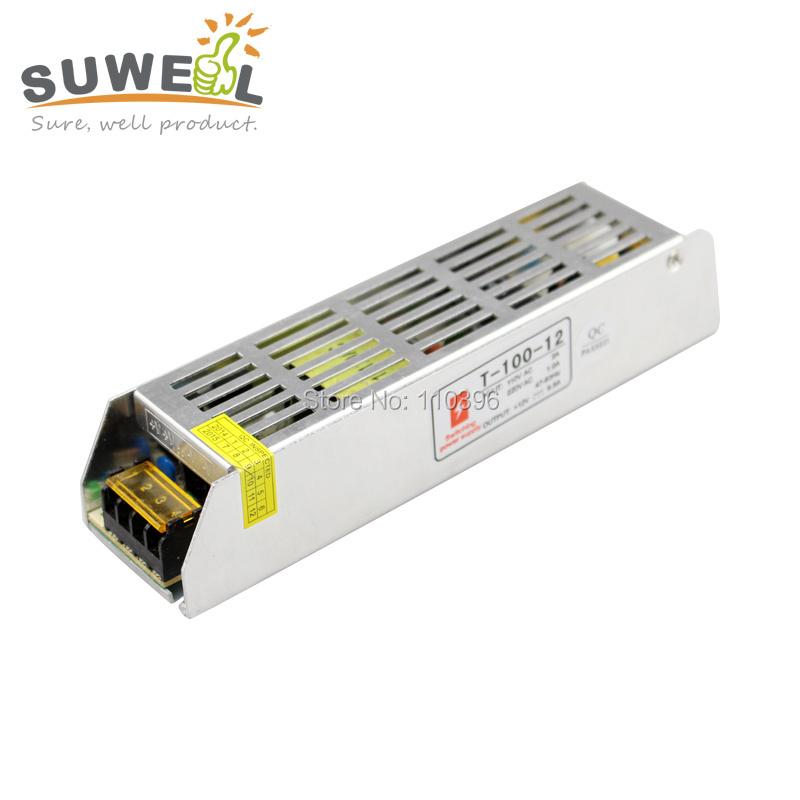 slim mini switching power supply 12v 100w,ac 110v 220v converter to dc 12v powr supply for led strip light<br><br>Aliexpress