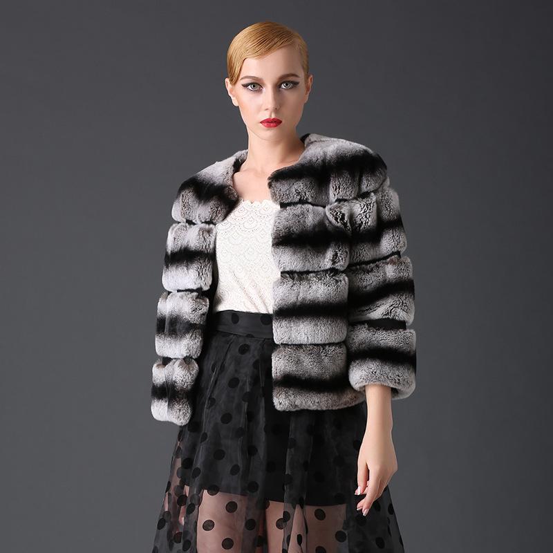 Chinchilla Rabbit Fur Coat Chinchilla Fur Coats Stand